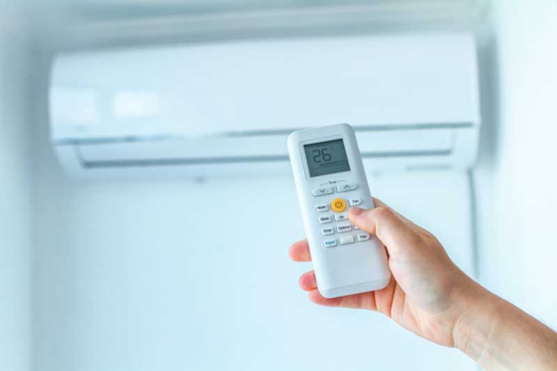 Klimaanlage gesteuert durch Fernbedienung